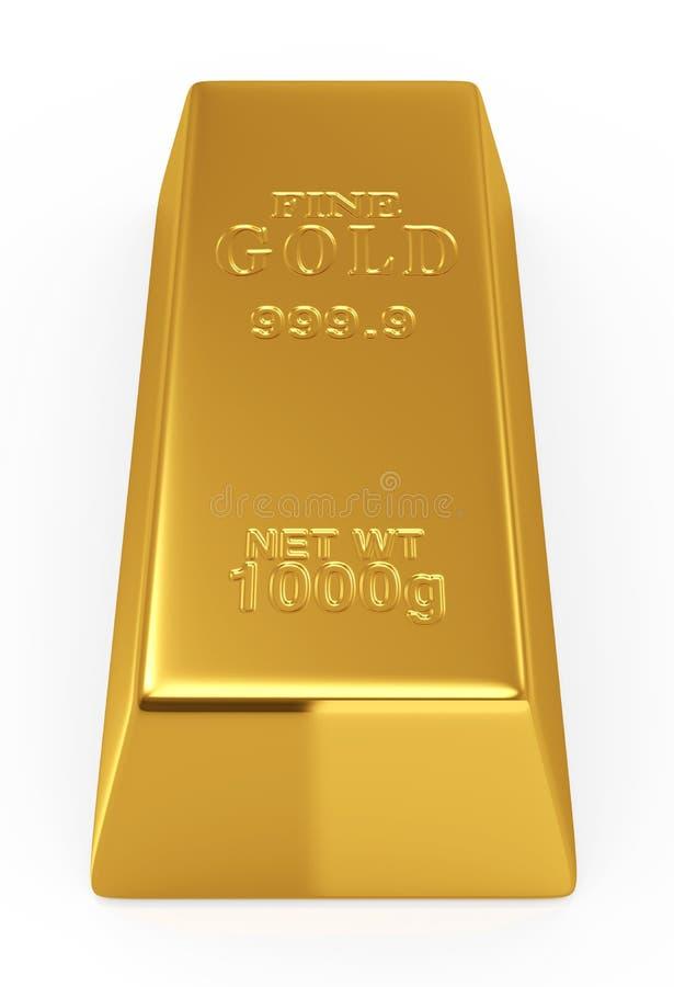 Bar d'or illustration de vecteur