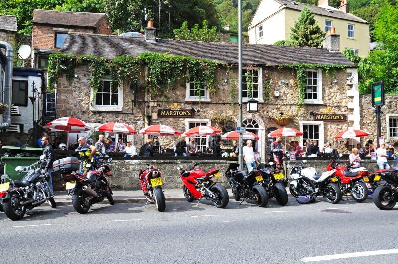 Bar de centre de ville, Bath de Matlock photos libres de droits