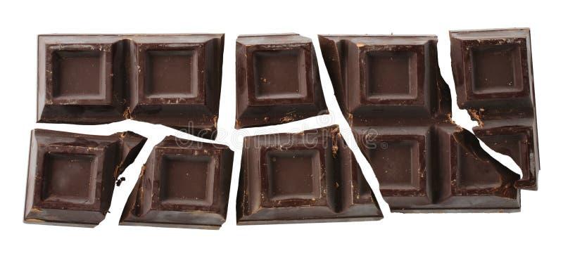Bar de chocolat criqué images stock