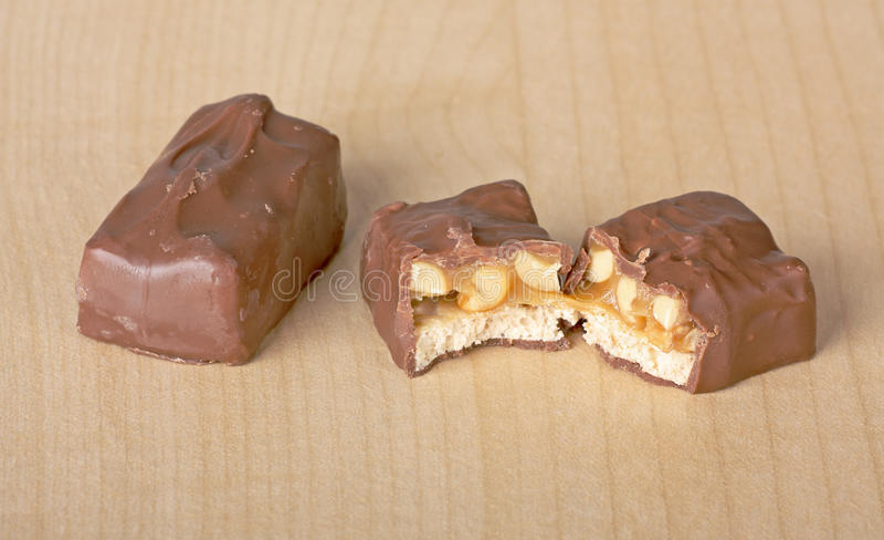 Bar de sucrerie de chocolat image libre de droits
