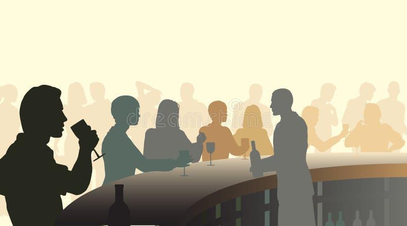 Bar de vin illustration stock