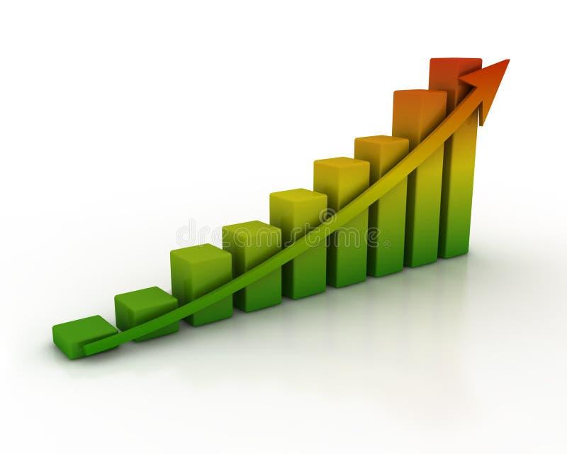 Bar diagram royalty free stock image
