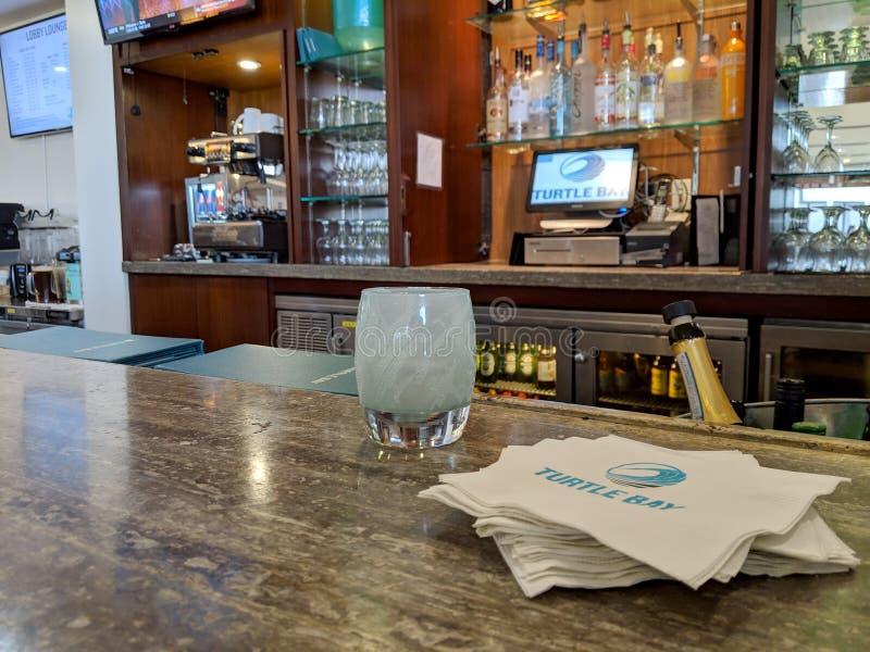 Bar do hotel interno imagem de stock