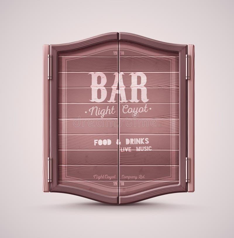 Download Bar Doors stock vector. Illustration of brown american - 53363089 & Bar Doors stock vector. Illustration of brown american - 53363089