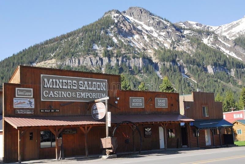Bar e casino no cozinheiro City, parque nacional de Yellowstone, Montana imagens de stock royalty free