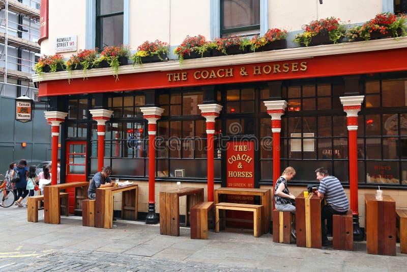 Bar em Soho fotos de stock royalty free