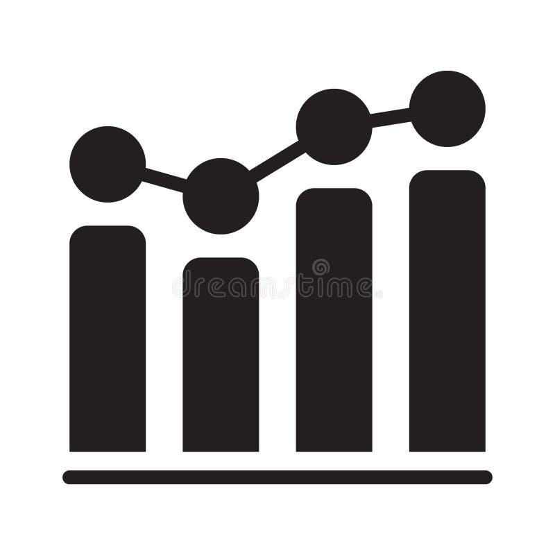 Bar en lijn de grafiek toont bedrijfsanalytics royalty-vrije illustratie