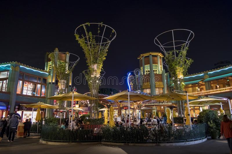 Bar in the famous Downtown Disney District, Disneyland Resort. Anaheim, NOV 11: Bar in the famous Downtown Disney District, Disneyland Resort on NOV 11, 2017 at stock photo