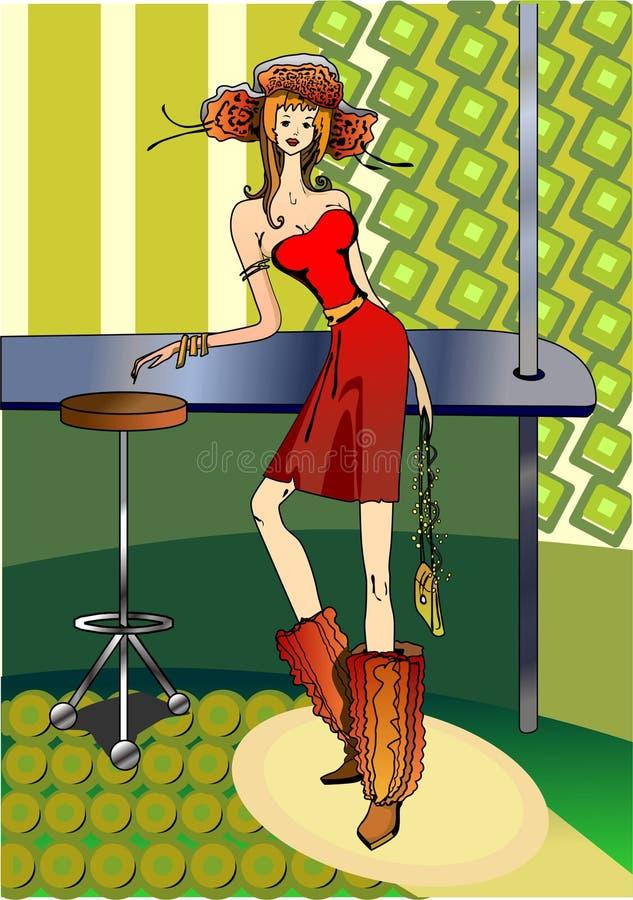 Bar Fashion Girl Royalty Free Stock Images