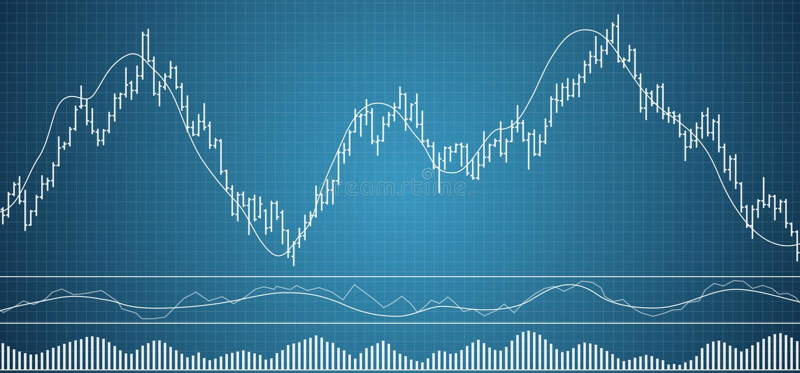 Bar financial data graph. Forex stock crypto currency data visualization. stock illustration