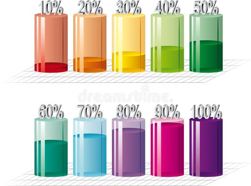 Bar graph. Illustration of bar graph. Vector royalty free illustration