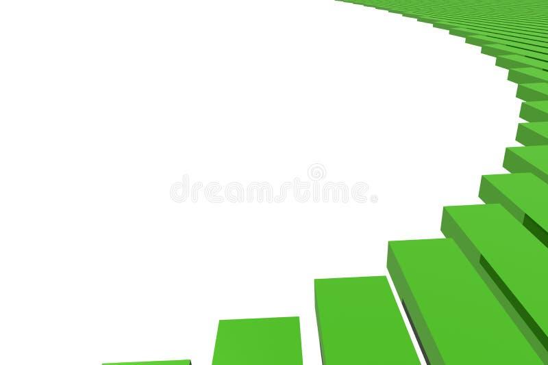 Bar graph. Green bar graph abstract or background vector illustration
