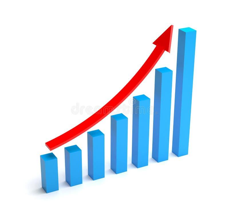 Bar graph. On white background stock illustration