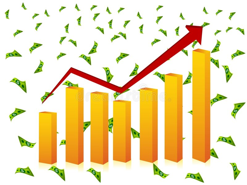 Download Bar graph and currency stock illustration. Image of progress - 5453817