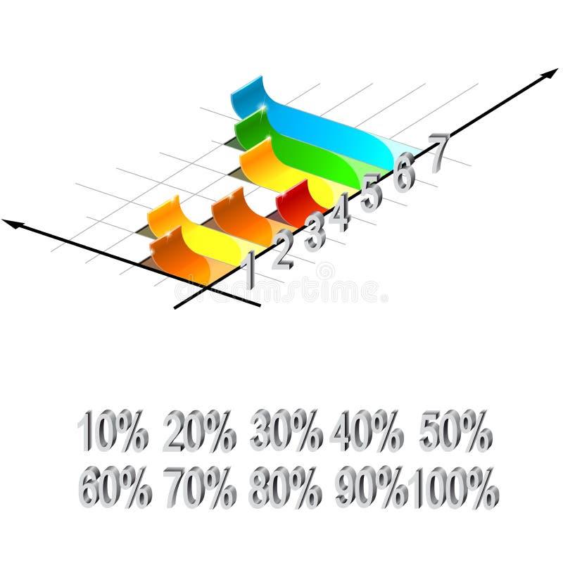 Bar graph. Rising bar graph - vector illustration vector illustration