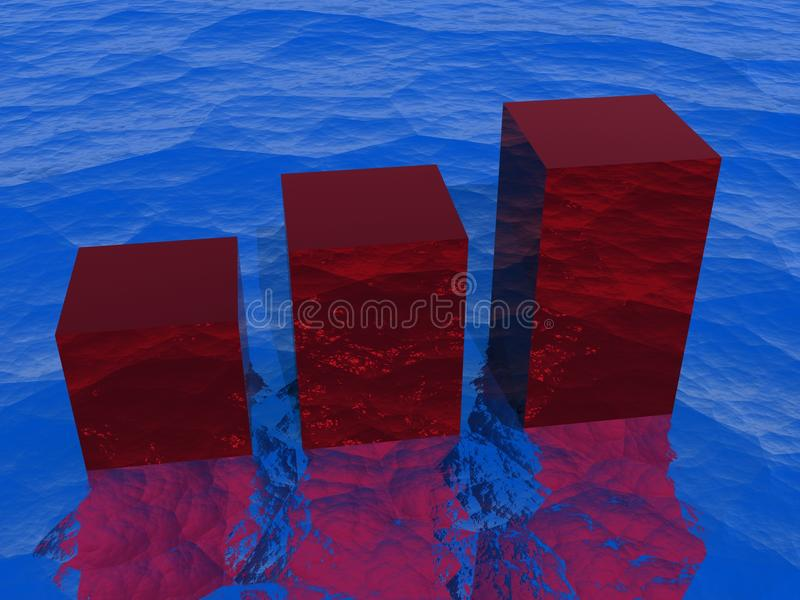 Download Bar graph on water stock illustration. Image of stat - 12693985