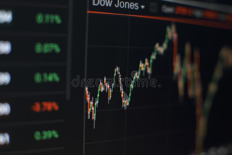 Bar graphs, Diagrams, financial figures. Forex chart. Abstract glowing forex chart interface wallpaper. Investment, trade, stock, stock photo