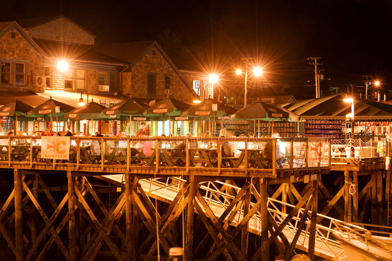 Bar Harbor waterfront royalty free stock photography