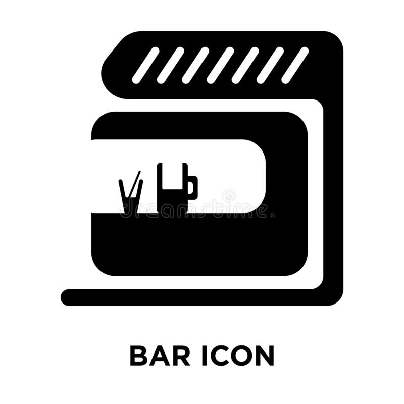 Bar icon vector isolated on white background, logo concept of Ba. R sign on transparent background, filled black symbol stock illustration