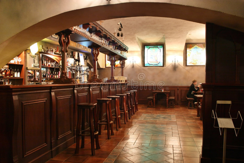 Bar interior 2. Old wood bar interior 2