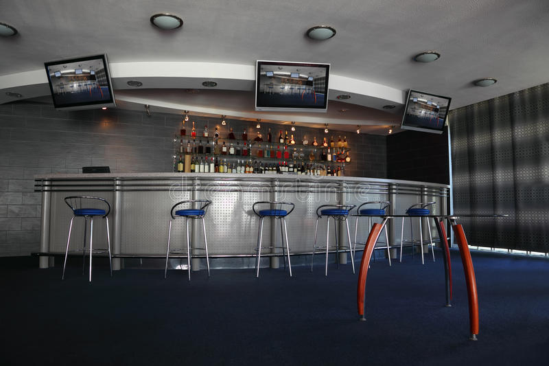 Download Bar Interior With Round Counter Stock Photos - Image: 22735893