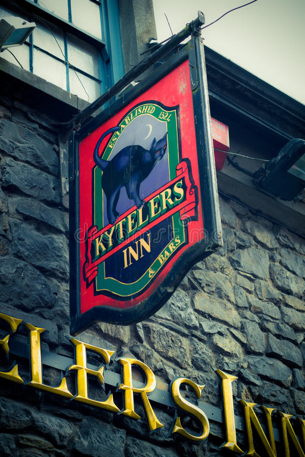 Bar irlandais historique photo stock