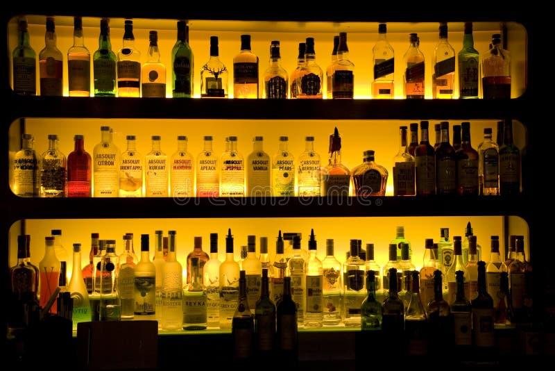 Bar liquor wine drinks decoration stock photo