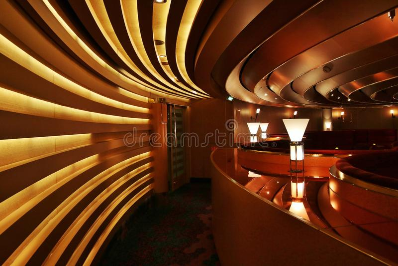 Bar lounge on a cruise ship royalty free stock photos