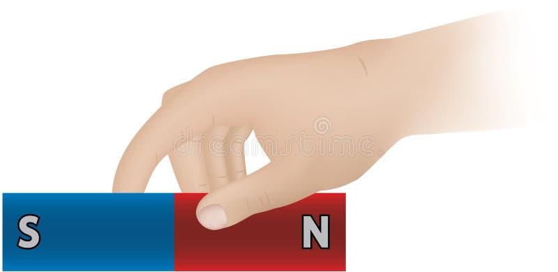 Bar magnet stock illustration
