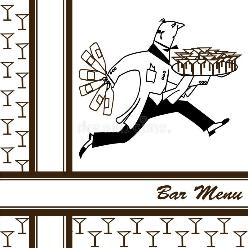Bar menu stock illustration