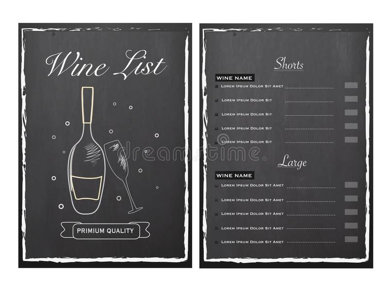 Bar Menu Card design with front and back page view. Bar Menu Card design on grey background with front and back page view vector illustration
