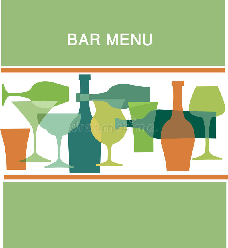 Bar menu design, illustration stock illustration