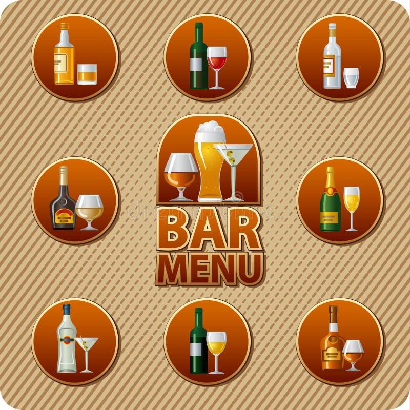 Bar menu icon stock illustration