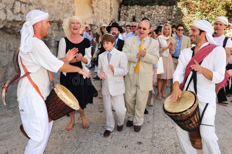 Bar-mitsvah - rituel juif d'âge d'or images libres de droits