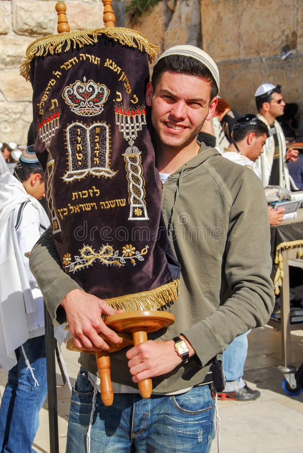 Bar mitzvah en la pared occidental, Jerusalén foto de archivo libre de regalías
