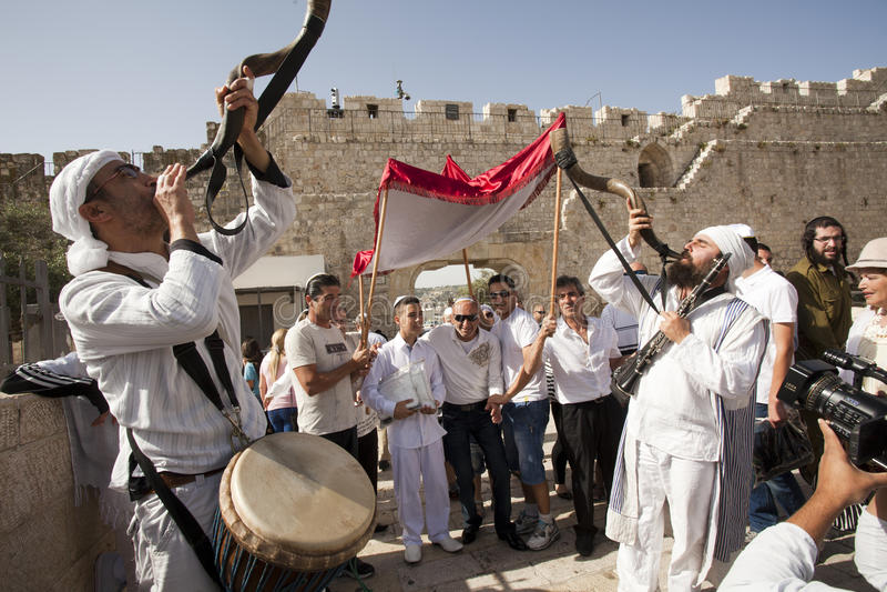 Bar Mitzvah, Jerusalem, Israel royalty free stock photos