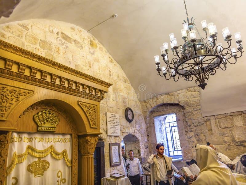 Bar Mizwa-König David Tomb Crusader Building Jerusalem Israel stockbilder