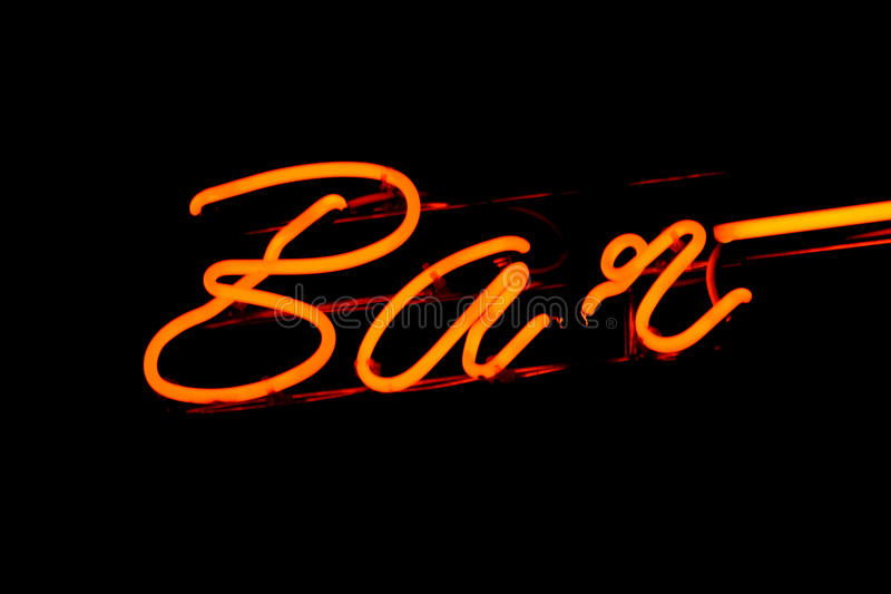 Download Bar neon sign stock image. Image of word, black, neon - 14129135