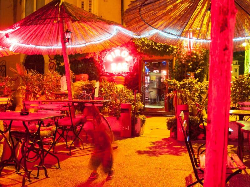 Bar at night,piran royalty free stock photos