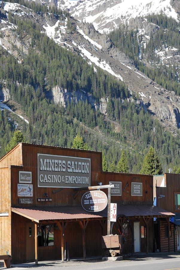 Bar no cozinheiro City, Montana imagem de stock royalty free
