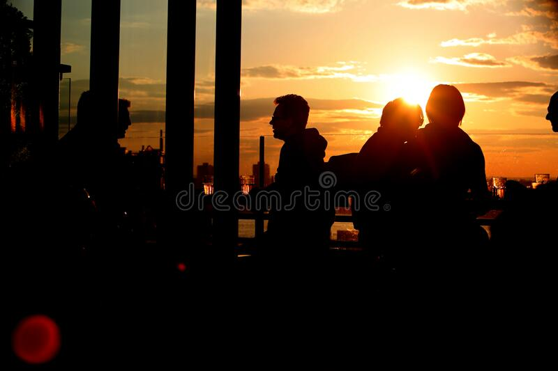 At The Bar Patrons Drink And Chat Free Public Domain Cc0 Image