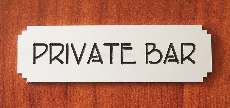Bar privé image stock