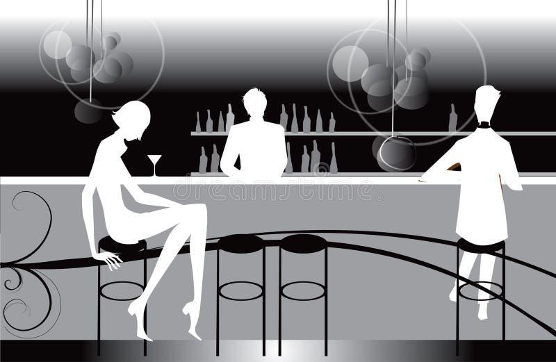 Bar restaurant lounge coffee women Illustration royalty free illustration