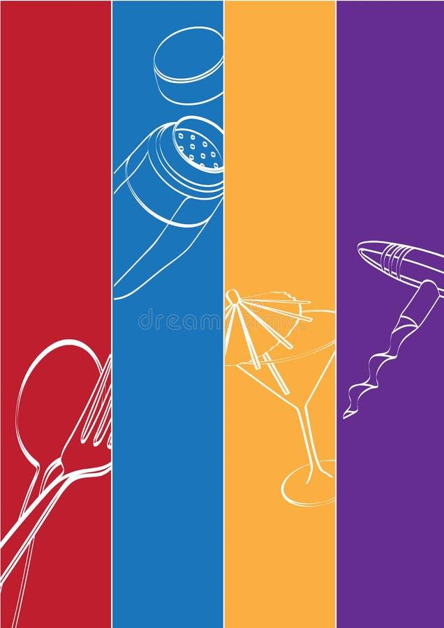Download Bar & Restaurant Theme stock illustration. Image of glass - 39885794
