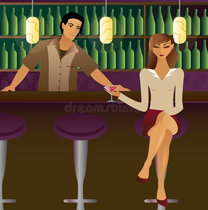 Download Bar Scene stock illustration. Illustration of attraction - 597597