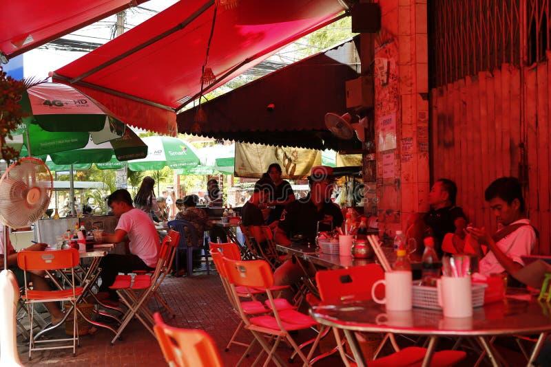 Bar scene in Cambodia stock image