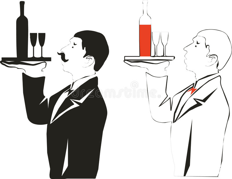 Bar server royalty free illustration