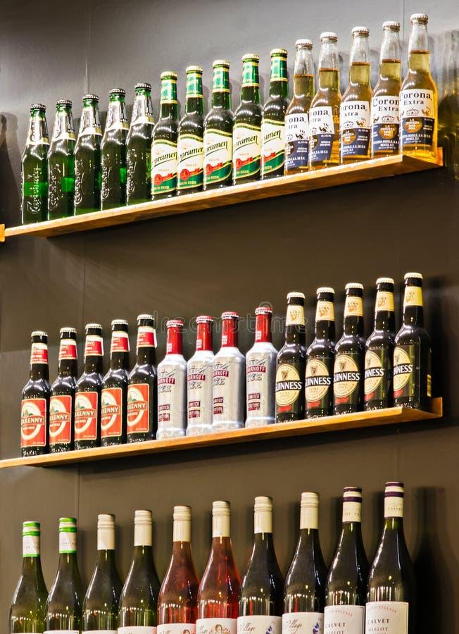 Bar Shelves Editorial Image