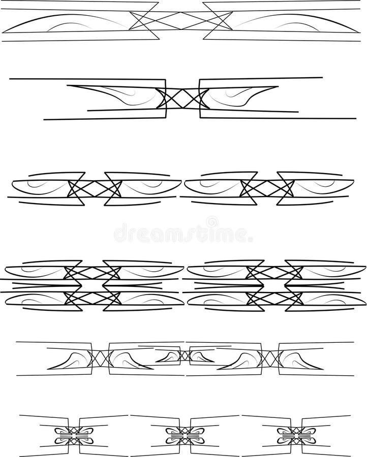 Download Bar shot borders stock illustration. Image of scrap, stitches - 17744649