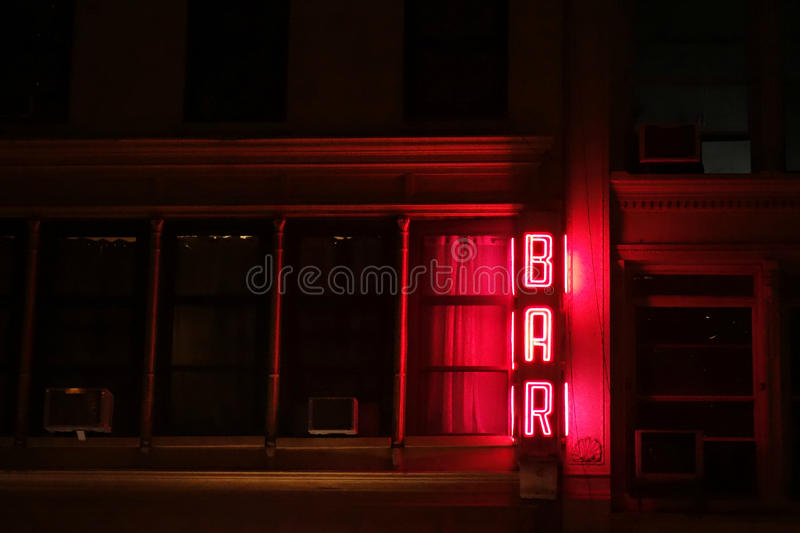 Bar Sign stock image